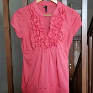 Maurices ruffle front tee